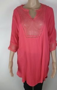 Lucky & coco pink longsleeve top size s/m